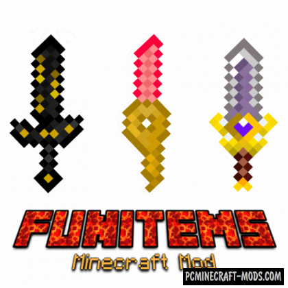 FunItems - Weapons Mod For Minecraft 1.16.5, 1.16.4, 1.12.2