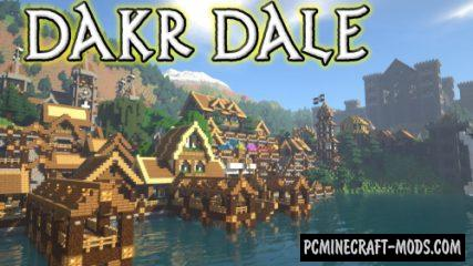 Dakr Dale - City, Town Map For Minecraft
