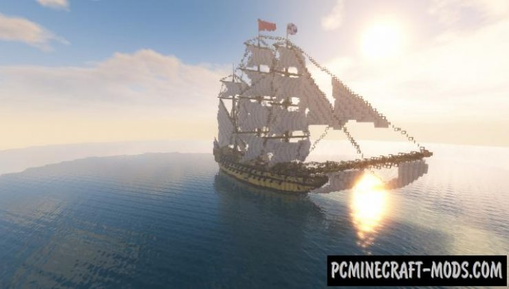 Galeon - Building, Creation Map For Minecraft