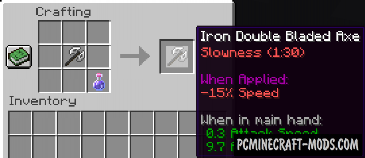 Double Bladed Axe - Weapon Mod For Minecraft 1.16.1, 1.15.2