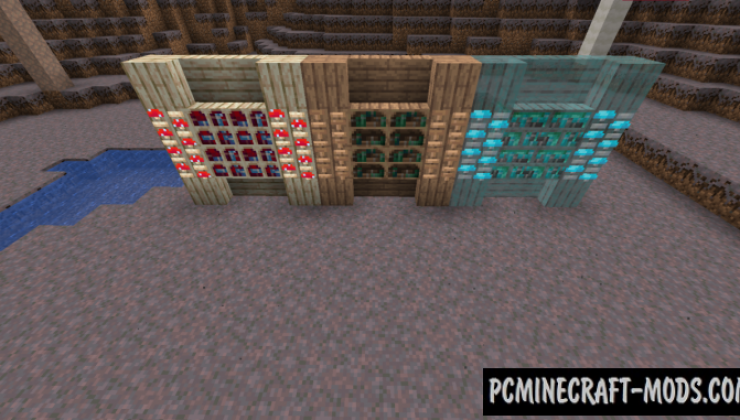 Enhanced Mushrooms - Furniture, Decor Mod 1.16.5, 1.15.2
