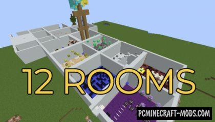 12 Rooms - Parkour Map For Minecraft