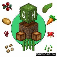 Quick Harvest - Farm Tweak Mod For MC 1.16.5, 1.16.4, 1.14.4