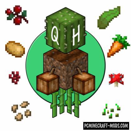 Quick Harvest - Farm Tweak Mod For MC 1.16.5, 1.16.4, 1.14.4