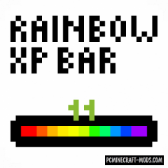 Rainbow XP Bar and Ping Texture-Mod 1.16.3, 1.15.2, 1.12.2