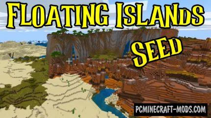Floating Islands, Pillager Outpost Seed For MC 1.16.4, 1.16.3