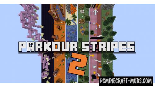 Parkour stripes 2 Map For Minecraft