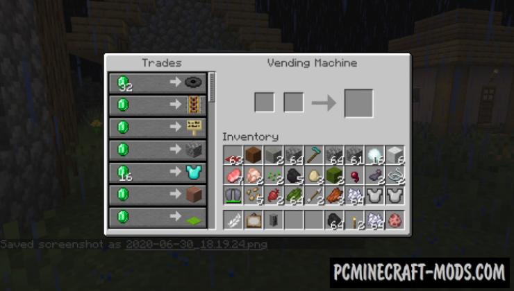 Vending Machine - New Block Mod Minecraft 1.16.4, 1.15.2