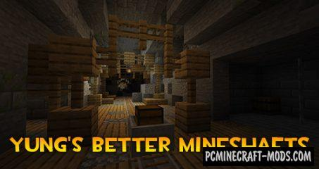 YUNG's Better Mineshafts - Biomes Mod 1.17.1, 1.16.5, 1.12.2