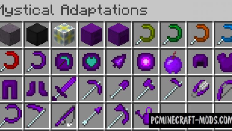Mystical Adaptations - Weapons, Blocks Mod 1.16.4, 1.12.2