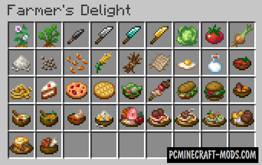 Farmer's Delight - Cute Farm Mod Minecraft 1.16.5, 1.16.4