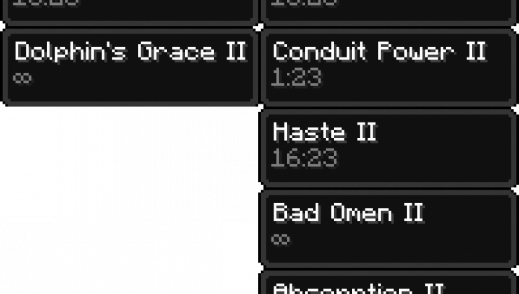 Compact Status Effects - GUI, HUD Mod For MC 1.17.1, 1.16.5