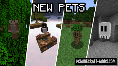Passive Pets - Creatures Mod For Minecraft 1.15.2, 1.14.4