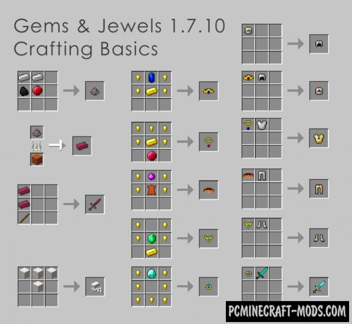 Gems & Jewels - New Ore Mod MC 1.16.5, 1.15.2, 1.7.10