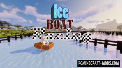 Ice Boat Racing - Minigame Map For Minecraft