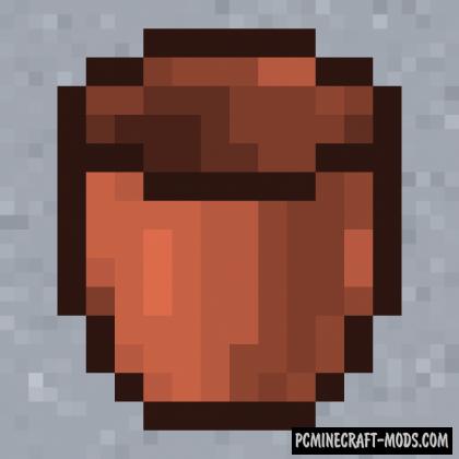 Ceramic Bucket - Surv Item Mod For MC 1.16.5, 1.16.4