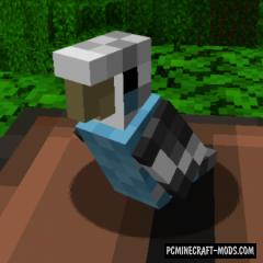 The Parakeet - Creature Tweak Mod Minecraft 1.16.3, 1.15.2