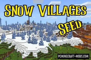 Piglin Bastion, Snow Villages Seed For MC 1.16.2, 1.16.1