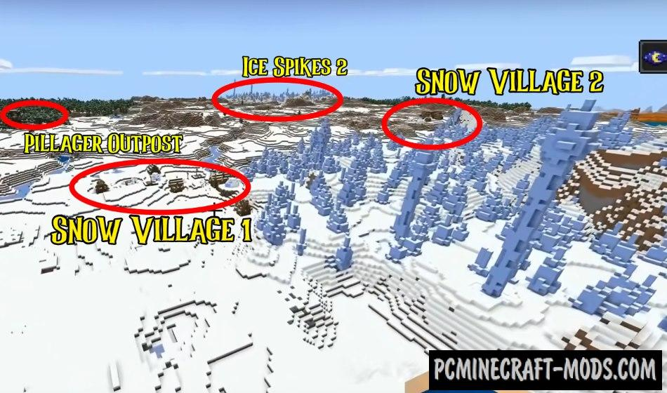 Piglin Bastion, Snow Villages Seed For MC 1.16.4, 1.16.3
