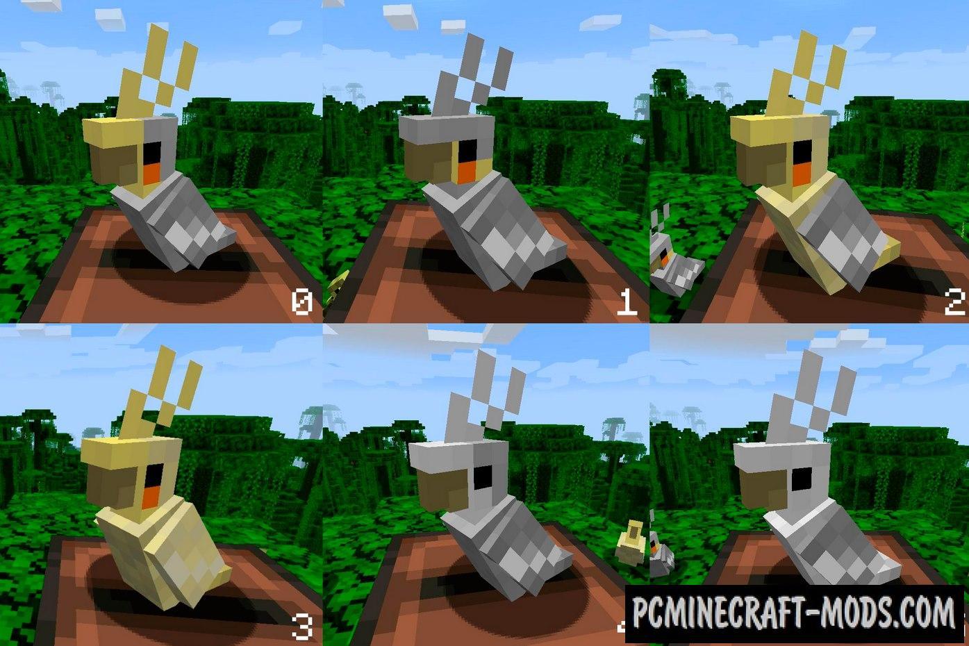 The Parakeet - Creature Tweak Mod Minecraft 1.16.5, 1.16.4