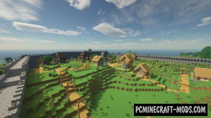 Medieval Town - Building Map For Minecraft