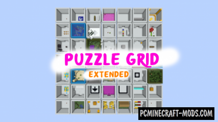 Puzzle Grid Extended Map For Minecraft