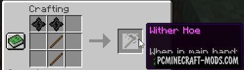 Wither Hoe - Weapon Mod For Minecraft 1.16.4, 1.15.2, 1.12.2