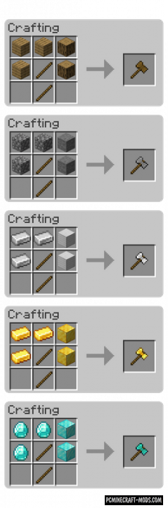 SuperAxes - Useful Tool Mod For Minecraft 1.16.3, 1.15.2