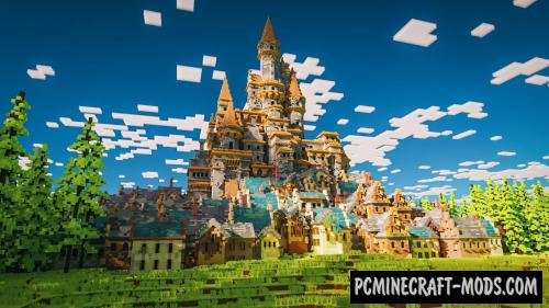 Mess - Castle, City Map For Minecraft