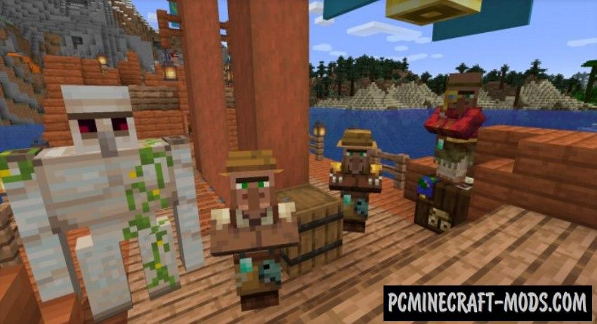 Ships out on the Oceans Data Pack For Minecraft 1.16.5, 1.16.4