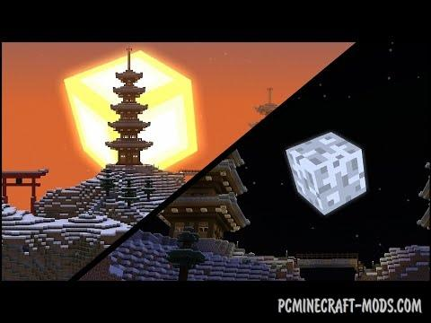 3D Sun and Moon Mod-Texture Pack For MC 1.15.2, 1.12.2