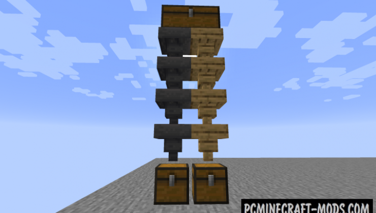 Wooden Hoppers - Block Mod For Minecraft 1.16.3