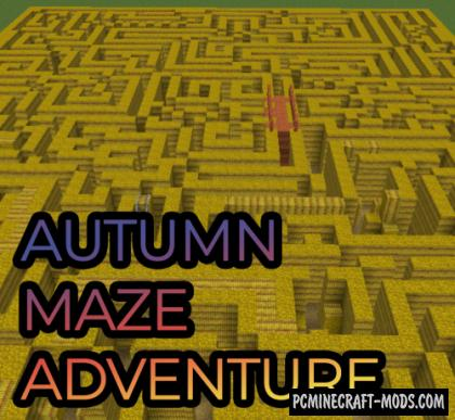 Autumn Maze Adventure - Puzzle Map For MC