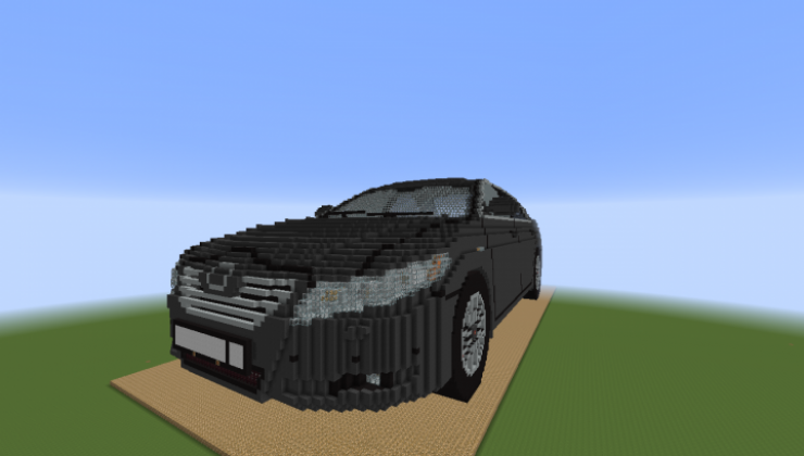 Toyota Camry 40 - 3D Art Map For Minecraft