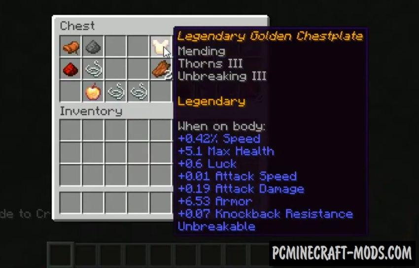 RPG Loot, Mobs & Dungeons Data Pack For MC 1.16.5, 1.16.4