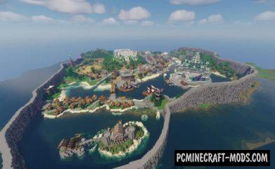 Medieval Island Kingdom Map For Minecraft