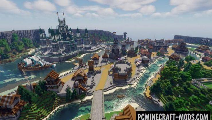 Medieval Island Kingdom Map For Minecraft