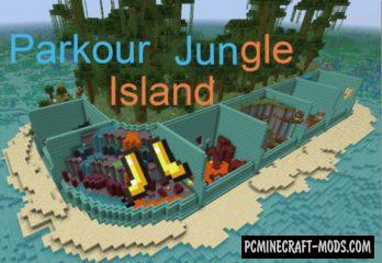 Parkour Jungle Island Map For Minecraft