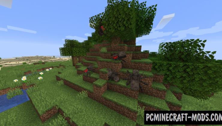 Spiders 2.0 - Realistic Tweaks Mod Minecraft 1.16.5, 1.12.2