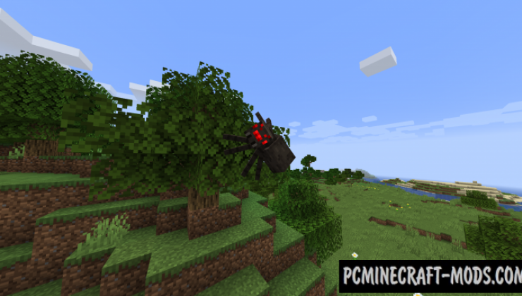 Spiders 2.0 - Realistic Tweaks Mod Minecraft 1.16.4, 1.12.2