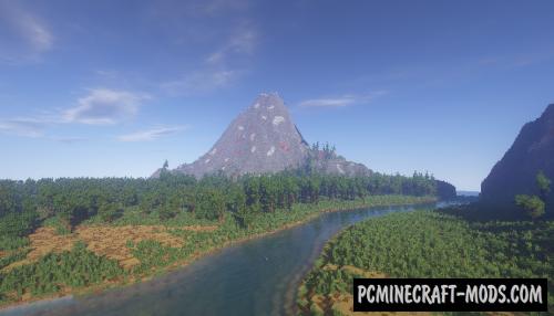 Mountain Rivenstone - Custom Terrain Map For MC
