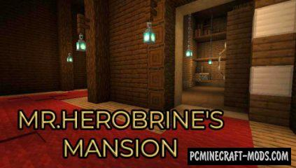 Mr.Herobrine's Mansion - PvE, Puzzle Map For MC