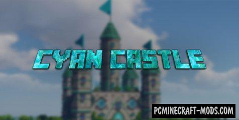 Cyan Castle Map For Minecraft