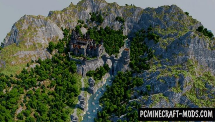 Castle in a Valley Map For Minecraft