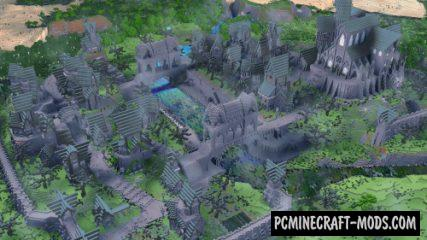 Ashville - Town, Buildings Map For Minecraft