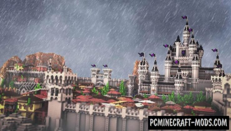 City of Estral - Buildings Map For Minecraft