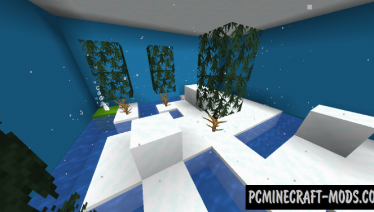 Snowball Push - Puzzle Map For Minecraft