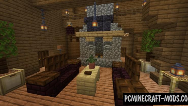 Woodland Log Home - Mansion Map For Minecraft