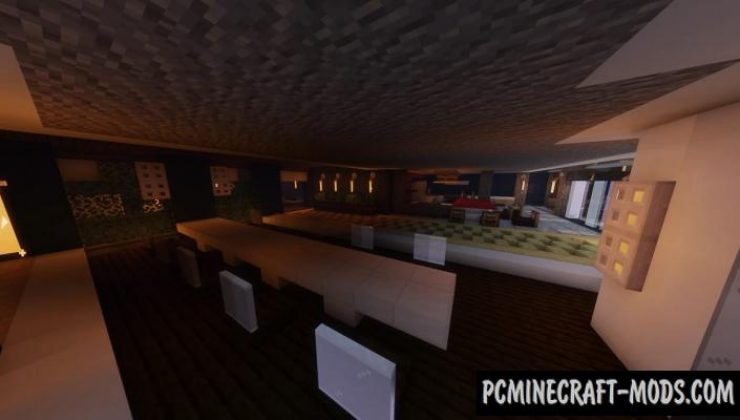 Modern Villa - Mansion, House Map For Minecraft
