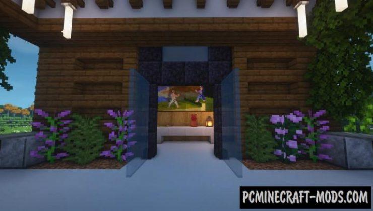 Modern Bridge House Map For Minecraft